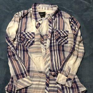 Rails lightweight flannel top